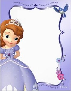 ideia convite princesa Sofia