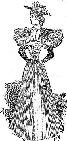 A Design in Crepon, Velvet or Silk; (Auckland Star, 17 August 1895)