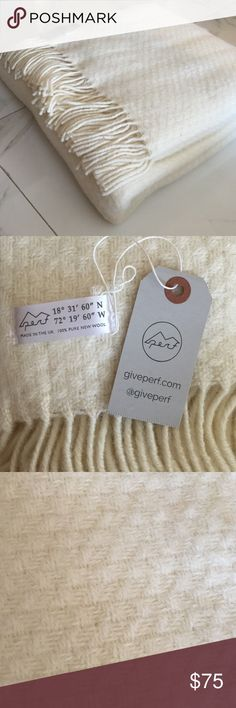 Wool Throw Blanket NWT. 100% pure new wool throw blanket. 60 x 66 inches. Anthropologie Other