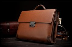 Leather Men's Classic Business Briefcase