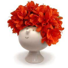"""Whimsical Ceramic """"Flowerhead"""" Vase from Modern Artisans - Flowerific"""