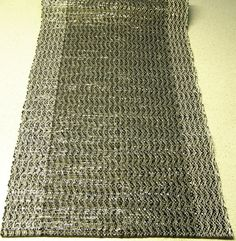 Hand woven table runner.