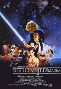 Message us your Madea ImPosters or post to Twitter with #MadeaImposters. May the force be with you!    Return of the JediMadea, by Brian Larson #Madea's #WitnessProtection, coming June 29th!