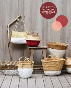 paint-dipped baskets
