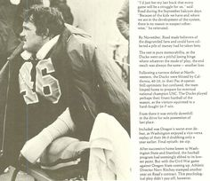 Pt. 2 of recap of 1974 Oregon football season. From the 1975 Oregana (University of Oregon yearbook). www.CampusAttic.com