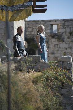 Daenerys, Jorah Mormont & Lord Barristan Game of Thrones - S4E4