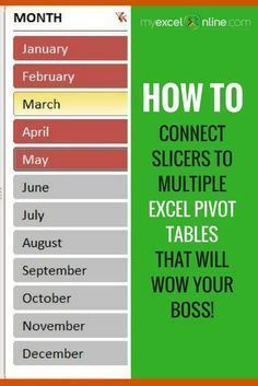 Connect Slicers to Multiple Excel Pivot Tables that will make you stand out from the crowd!   Learn Microsoft Excel Tips + Free Excel Tutorials & Cheat Sheets   The Most In-Depth Excel Video Courses Online at http://myexcelonline.thinkific.com/