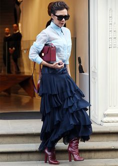 Victoria Beckham Style - Ruffled Skirt