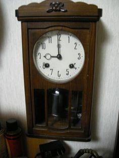 アンティーク柱時計「アイチ時計」作動品ーNo2 Watch wall clock ¥3000yen 〆05月06日