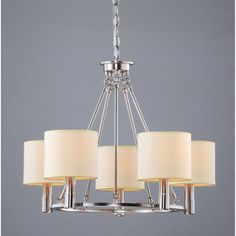 @Overstock - Illuminate your home with this elegant five-light chandelier with a metal frame. This beautiful chandelier features light beige shades and a nickel finish. With 40 inches of chain included, the fixture can be customized to any length drop.http://www.overstock.com/Home-Garden/Indoor-5-light-Antique-Nickel-Chandelier/5184452/product.html?CID=214117 $132.29
