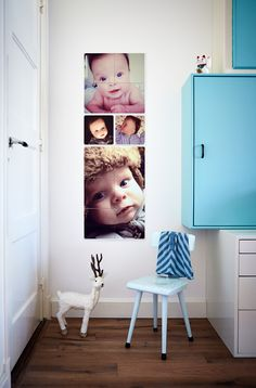 IXXI wall decoration made with baby photos. The IXXI in this example will cost $44.75 (own images, 40 x 120 cm). #ixxi #ixxidesign