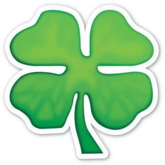 Shamrock - Four Leaf Clover Emoji Stickers, Cute Stickers, Laptop Stickers, Face Painting Designs, Painting Patterns, Four Leaf Clover Drawing, Whatsapp Png, Mime Face Paint, Tumblr Png