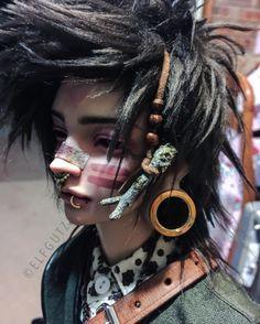 Ooak Dolls, Art Dolls, Gothic Dolls, Draw On Photos, Dark Photography, Doll Parts, Doll Repaint, Fantasy Makeup, Boy Doll