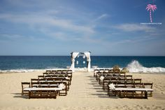 Cabo San Lucas destination wedding at Marbella suites en la Playa. Loved the wedding ceremony setup and the incredible back drop of the Pacific Ocean!  Wedding Planner: @Amy Abbott   #wedding #destinationwedding #cabowedding #weddingphotographers #weddingceremony #marbellasuites #ceremony #bridetobe #wedspiration