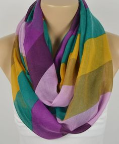 BUY 1 & GET 1 FREE   Chevron Scarf  Infinity Scarf by LIFEPARTNER, $16.40