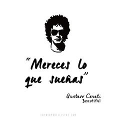 ¡Qué falta nos haces Cerati! Music Is Life, My Music, Soda Stereo, Like Me, My Love, Some Words, Music Quotes, Music Bands, Beautiful Words