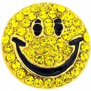 Yellow Happy Face Pin Brooch