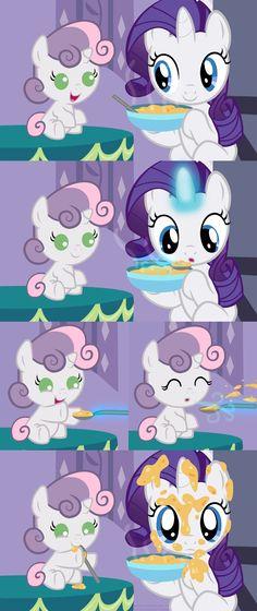 Spoonfeeding Sweetie Belle by Beavernator.deviantart.com on @deviantART