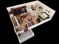 25 One Bedroom House/Apartment Plans  13) easy-one-bedroom-ideas