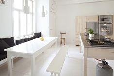 table & benches via emmas designblogg
