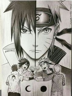 Anime Naruto Uzumaki and Sasuke Uchiha By Arteyata Naruto Vs Sasuke, Anime Naruto, Art Naruto, Manga Anime, Sakura Kakashi, Hinata, Naruto Drawings, Sasuke Drawing, Naruto Sketch Drawing