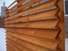 Деревянный забор типа Жалюзи