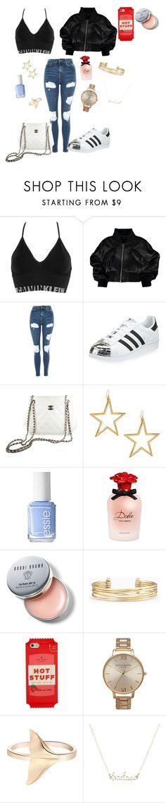 """Want 😫😫"" by enniahxox ❤ liked on Polyvore featuring Calvin Klein Underwear, Boohoo, Topshop, adidas, Chanel, Kenneth Jay Lane, Essie, Dolce&Gabbana, Bobbi Brown Cosmetics and Stella & Dot"