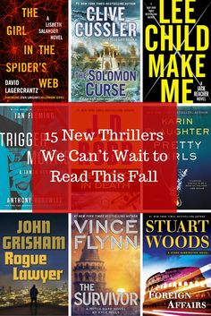 15 New Thriller Books Worth Reading This Fall