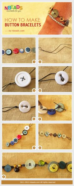 how to make button bracelets