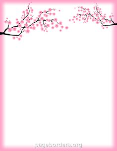 Free cherry blossom border templates including printable border paper and clip art versions. File formats include GIF, JPG, PDF, and PNG. Free Printable Stationery, Printable Paper, Portfolio Kindergarten, Cherry Blossoms, Sakura Card Captors, Printable Border, Page Borders Design, Boarders And Frames, Decoupage