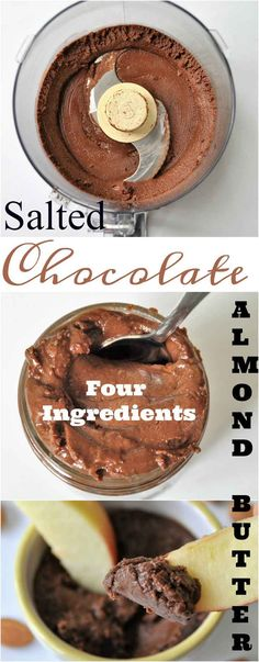 Homemade roasted almond butter, sweetened with dates. Healthy and easy to make. Vegan Candies, Vegan Treats, Healthy Treats, Vegan Desserts, Candy Recipes, Raw Food Recipes, Gourmet Recipes, Dessert Recipes, Cooking Recipes