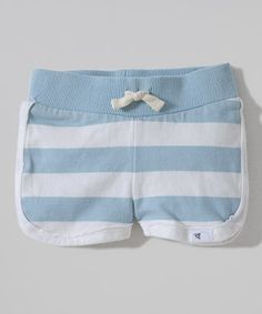 3a9be02185c0 Burt's Bees Baby Blue Rugby Stripe Organic Shorts - Infant & Toddler