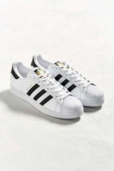 adidas originali delle superstar fondazione scarpe casual, bianco