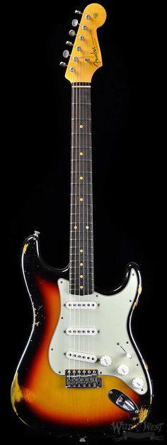 "Fender 1962 Heavy Relic Stratocaster ""Rosie V"" Three Tone Sunburst - Wild West Guitars"