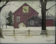 Quilt Barn Art Print Framed Plaque By Billy Jacobs BJ191