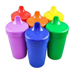RePlay Made in the USA No Spill Sippy Cup for Baby and Toddler Feeding Set of 6  Crayon Box >>> You can find more details by visiting the image link.