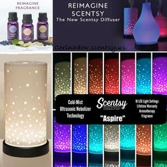 Reimagine Scentsy Diffusers come in 16 different colors to create any mode for any occasion. Only a few drops of Oil and your home is smelling amazing. Go to https://corinadow.scentsy.us/