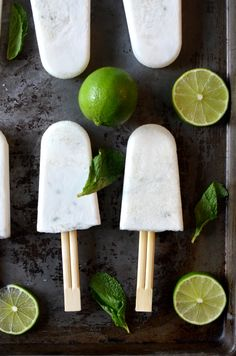 Coconut Mojito Popsicles | Fed and Fit