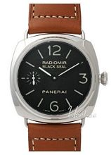 Panerai Historic Radiomir Black Seal Sort/Lær Ø45 mm