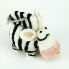 Zebra Woolbuddy Kit | True To US One of our favorite additions this Spring!   Each kit contains the materials and needles you need to create your own wool buddy.