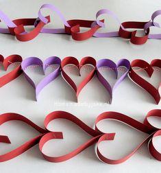 Valentijn hartjes slingers - Homemade by Joke Crafts, Children, Wedding, Valentines Day Weddings, Manualidades, Boys, Kids, Hochzeit, Handmade Crafts