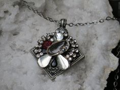 Repurposed Vintage Rhinestone Necklace by LadyAnnesCloset on Etsy