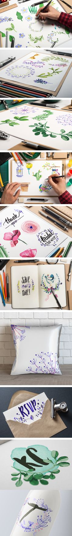 Brush up on the watercolor design trend with this beautiful collection! You will receive 540+ stunning elements, including watercolor flowers, birds, frames, watercolor wallpaper and so much more. All these hand paintedresources are perfect for almost every project you can think of: from stationery and packaging to merchandise, websites, digital presentations and everything in between! You can use them to give your work an artistic touch or to wow a client who is looking for something out…