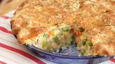 We added fresh thyme and cheddar cheese to Pillsbury pie crusts for a delicious makeover of the classic chicken pot pie.