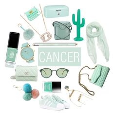 """""""CANCER * zodiac collection"""" by bridgetdow ❤ liked on Polyvore featuring JINsoon, Chanel, Abercrombie & Fitch, RetroSuperFuture, Under One Sky, adidas Originals, Furla, Rebecca Minkoff, Sunnylife and MANU Atelier"""