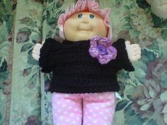 This is the only pattern I have ever tried to write down. If there is ANYTHING you need help with or any mistakes you see please fell free to drop me a line! My daughter loves this sweater for her dollies and it looks great in a variety of colours. for larger dolls use a larger hook or add to your beginning chain as needed.