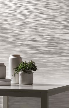 3D/Wave Wall Design by @atlasconcorde | Three-dimensional Ceramic Wall Tiles |   atlasconcorde.com | Made in Italy |