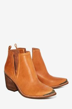 Jeffrey Campbell Cromwell Leather Bootie - Tan - Shoes | Boots + Booties