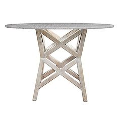 The Bridge Dining Table is inspired by the bridges of the Bay Area, made over in whitewashed mango wood. Looks great with our matte gray concrete top.