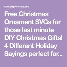 Free Christmas Ornament SVG Bundle